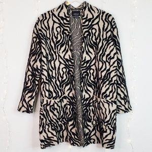 Zara Knit | Limited Edition Animal Print Cardigan